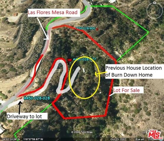 LAS FLORES MESA DR, MALIBU, California 90265, ,Land,For Sale,LAS FLORES MESA,17-194776