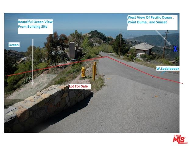 24744 West Saddlepeak RD, MALIBU, California 90265, ,Land,For Sale,West Saddlepeak,18-390372