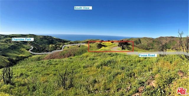 Foose Road, MALIBU, California 90265, ,Land,For Sale,Foose Road,19-456342