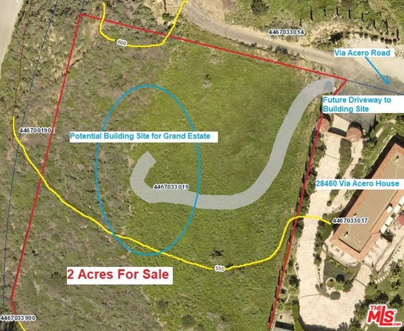 28462 Via Acero RD, MALIBU, California 90265, ,Land,For Sale,Via Acero,19-484676