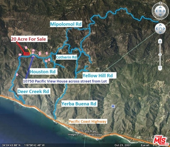 11345 PACIFIC VIEW DR, MALIBU, California 90265, ,Land,For Sale,PACIFIC VIEW,20-539876