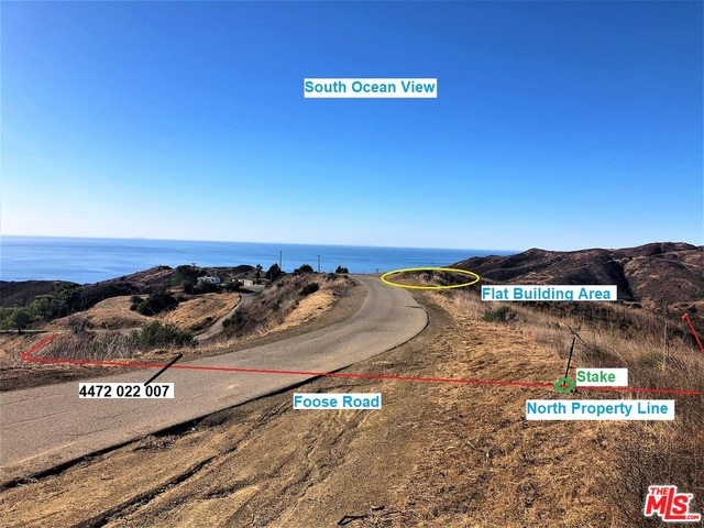 2535 Foose RD, MALIBU, California 90265, ,Land,For Sale,Foose,20-665320